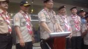 17 Rébu Anggota Pramuka sa-Kota Bandung  Ngareuah-reuah HUT Pramuka ka-55 taun, di GBLA