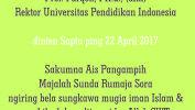 Innalillahi wainnailaihi rojiun parantos mulih ka Rahmatulloh mulang ka asal,   Prof. Furqon, PH.d., (alm) Rektor Universitas Pendidikan Indonesia