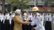 Di HSP ke-89, Paskibra SMKN 5 Kota Bandung Beri Kado Istimewa