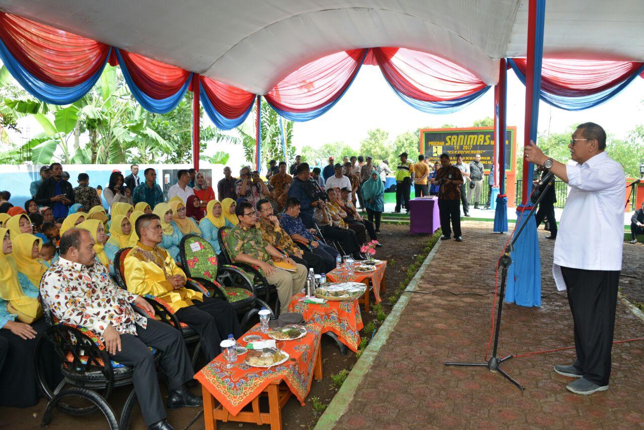 Dilengkapi Ipal Komunal, Demiz Resmikan Sanitasi Berbasis Masyarakat di Banjaran