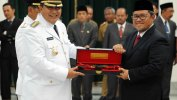 Pelantikan Walikota dan Wakil Walikota Tasik, Aher Titip Prioritaskan Pendidikan dan Kesehatan