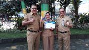 SDN 262 Panyileukan Kota Bandung Dapat Piagam GPS