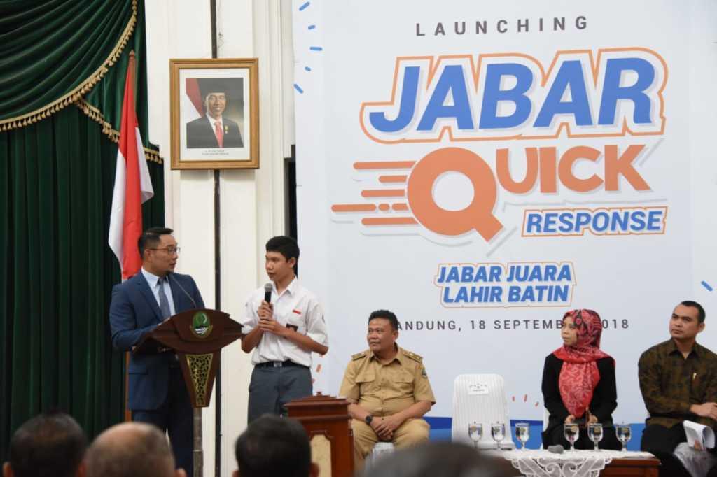 Respon Cepat, Gubernur Luncurkan JabarQR