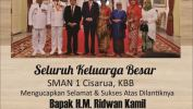 Ucapan Selamat Kepada Ridwan Kamil Gubernur Jabar Terpilih Dari SMAN 1 Cisarua, KBB